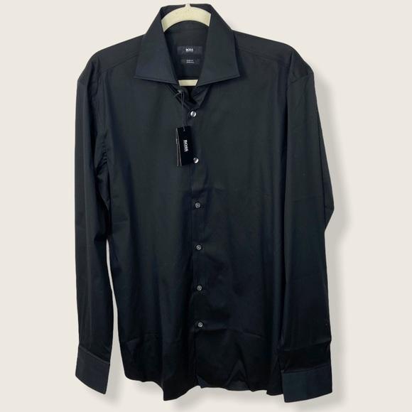 Hugo Boss Black Slim Fit Stretch Dress Shirt 16